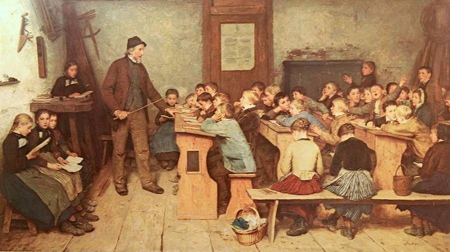 Альберт Анкер. Сельская школа в 1848 году. 1896