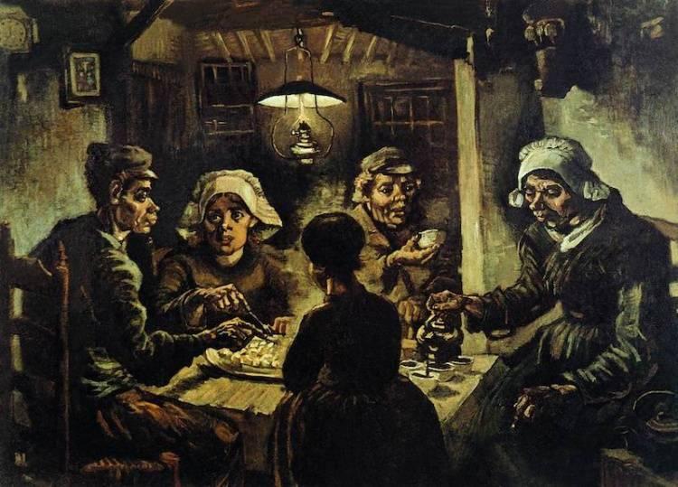 Винсент Ван Гог Едоки картофеля 1885г.