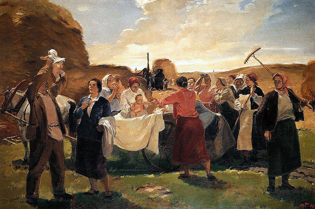 Тарас Гапоненко. На обед к матерям. 1935