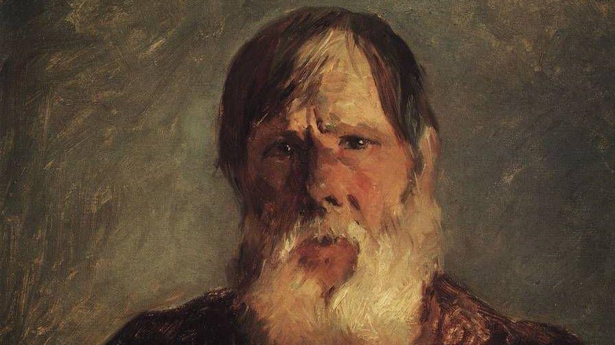 Старик-крестьянин, 1880 Фрагмент Ге Николай Николаевич