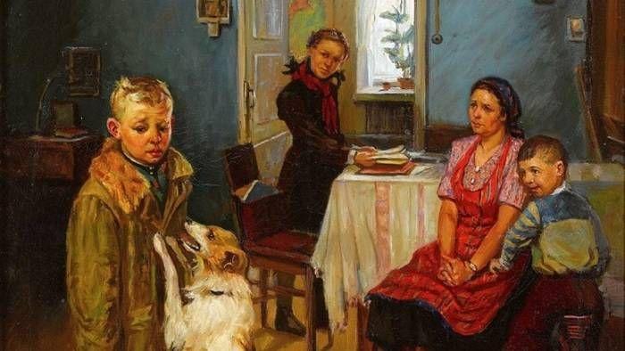 Федор Решетников. Опять двойка. 1952