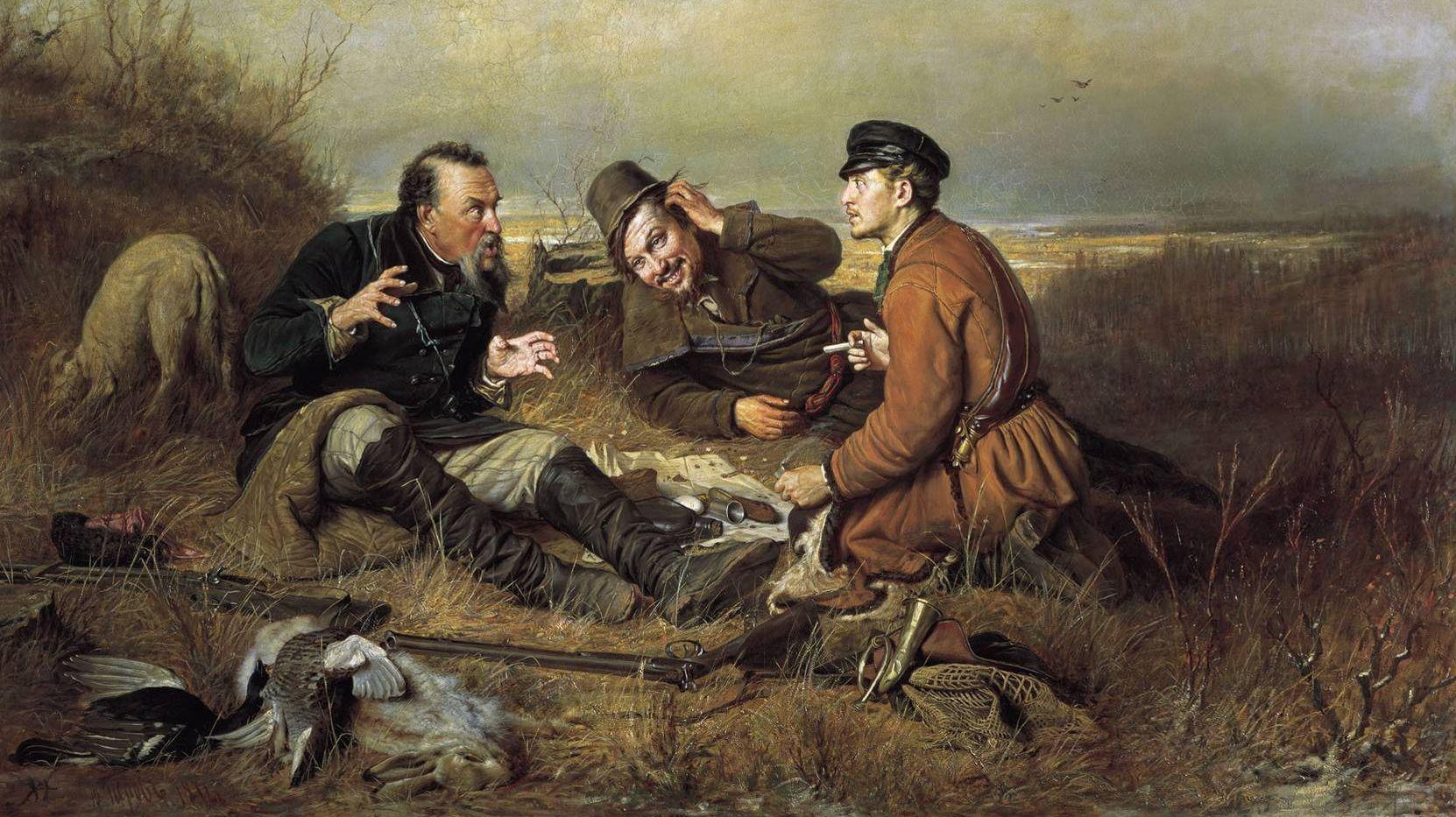 Перов Василий. Охотники на привале. 1871