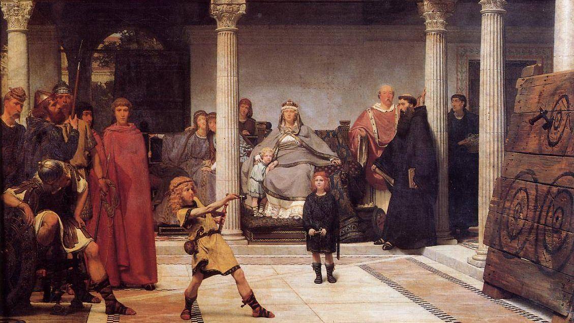 Лоуренс Альма-Тадема. Обучение детей Хлодвига. 1861