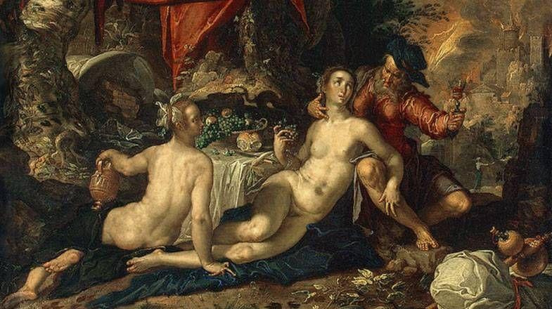 Лот с дочерьми. 1603-1608 Иоахим Эйтевал