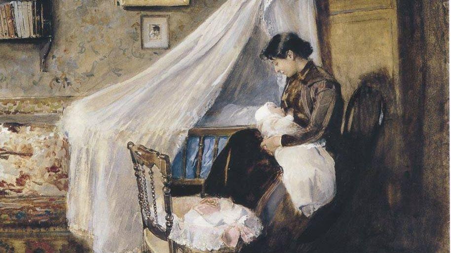 Соролья Хоакин. Первый ребёнок. 1890