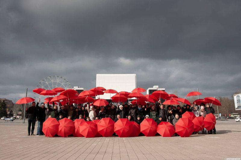 Флешмоб против пенсионной реформы в Ростове-на-Дону. 03.03.2019