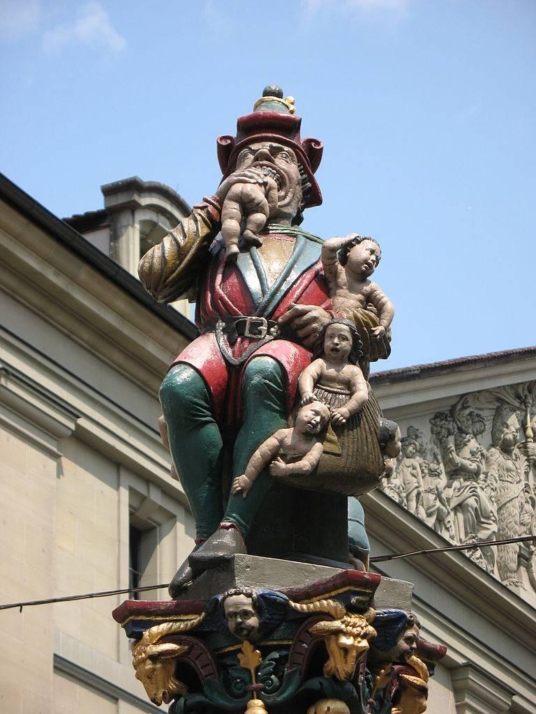 Фонтан «Пожиратель детей», Берн, Швейцария Andrew Bossi, wikimedia.org