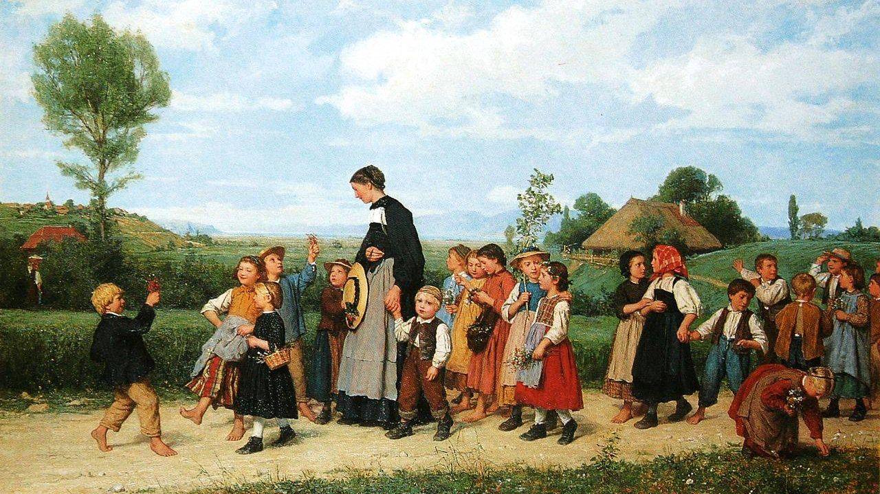 Школьная прогулка Альберт Анкер 1872