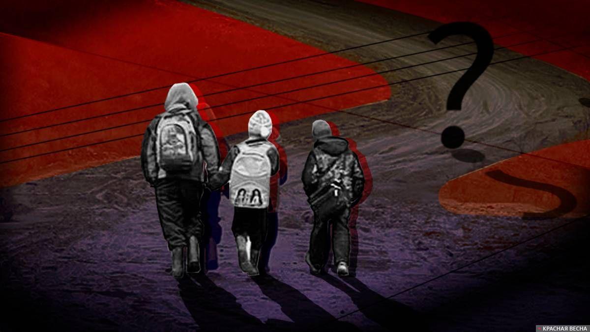 Дети идут в школу Сергей Кайсин © ИА Красная Весна