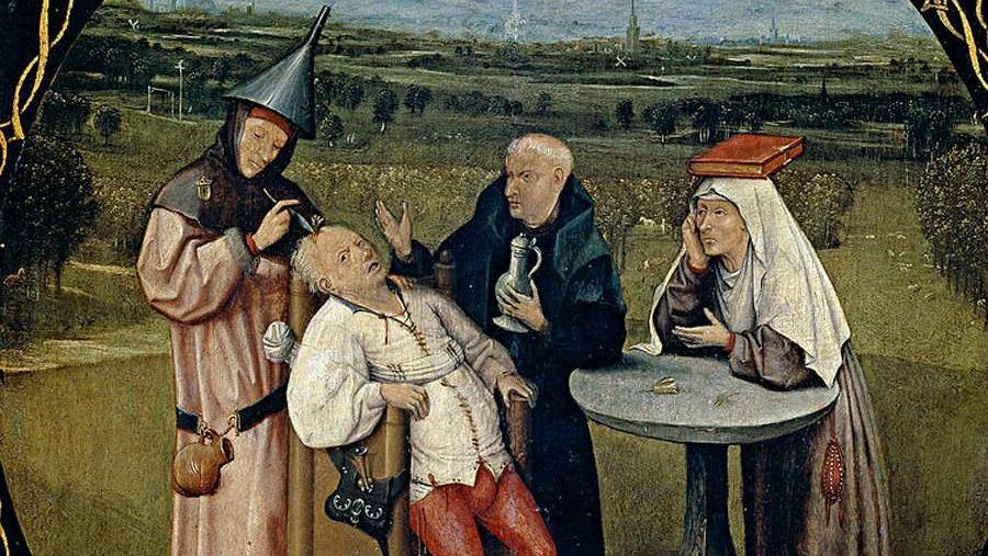 Извлечение камня глупости (фрагмент) Иероним Босх. 1475—1480