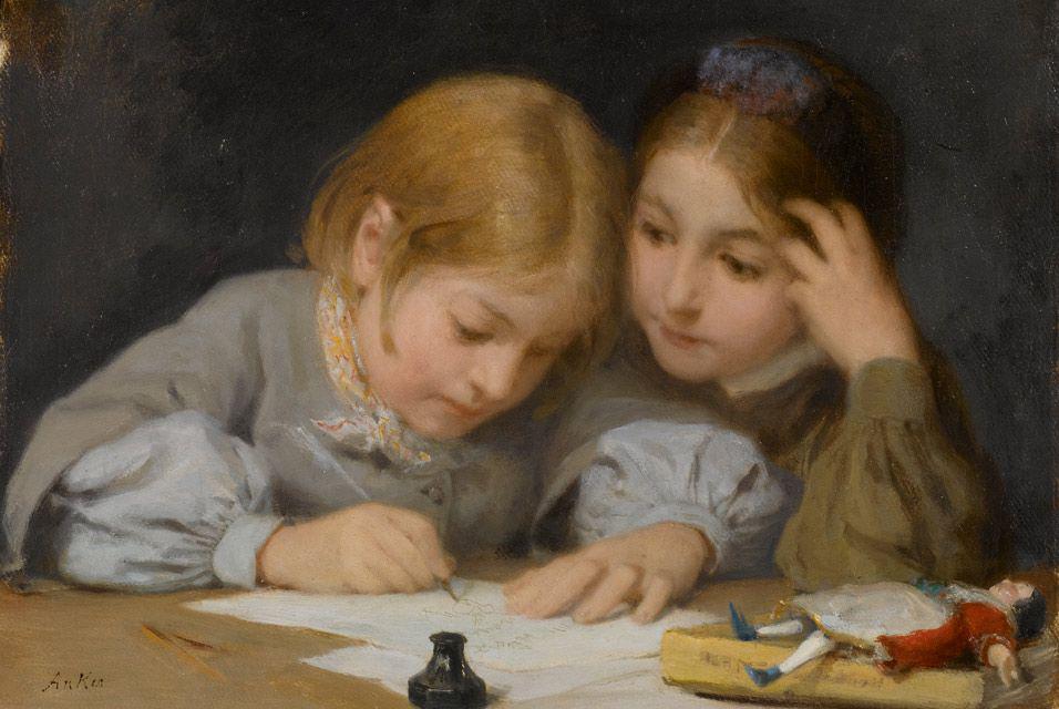 Альберт Анкер. Класс письма. 1865