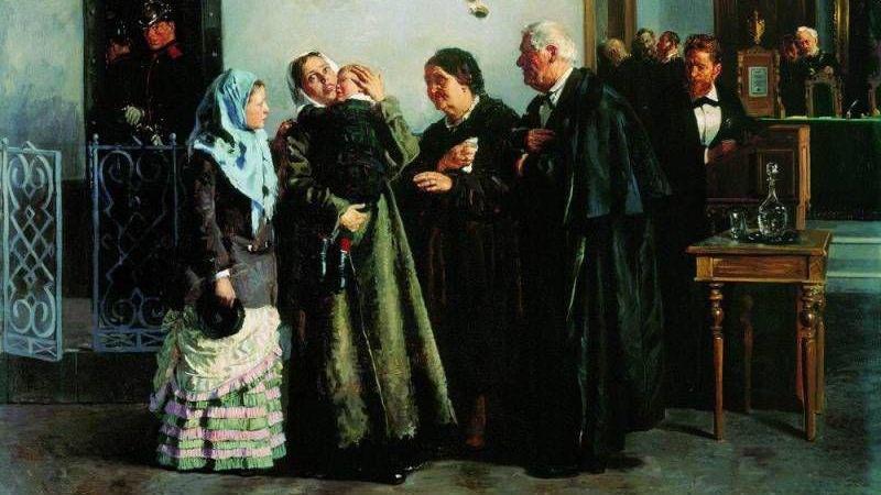 В.Е. Маковский. «Оправданная». 1882, Государственная Третьяковская галерея, Москва