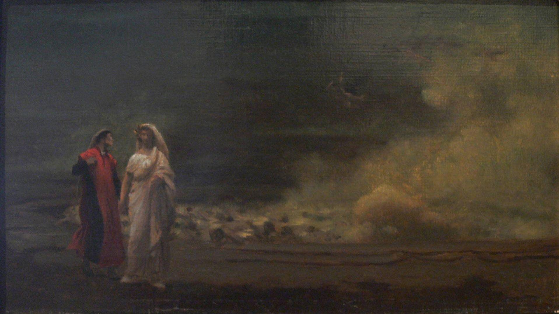 Жан-Леон Жером. Данте и Вергилий в аду.