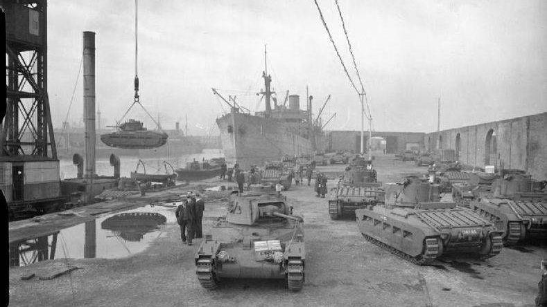 Отправка танков в Советский Союз