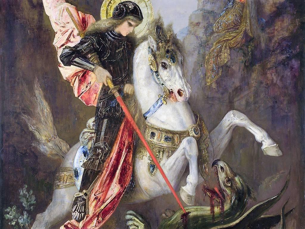 Гюстав Моро «Святой Георгий и дракон» 1870-1889 г