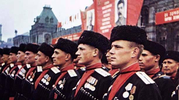 Кубанские казаки на параде Победы, Красной площади, 24 июня 1945