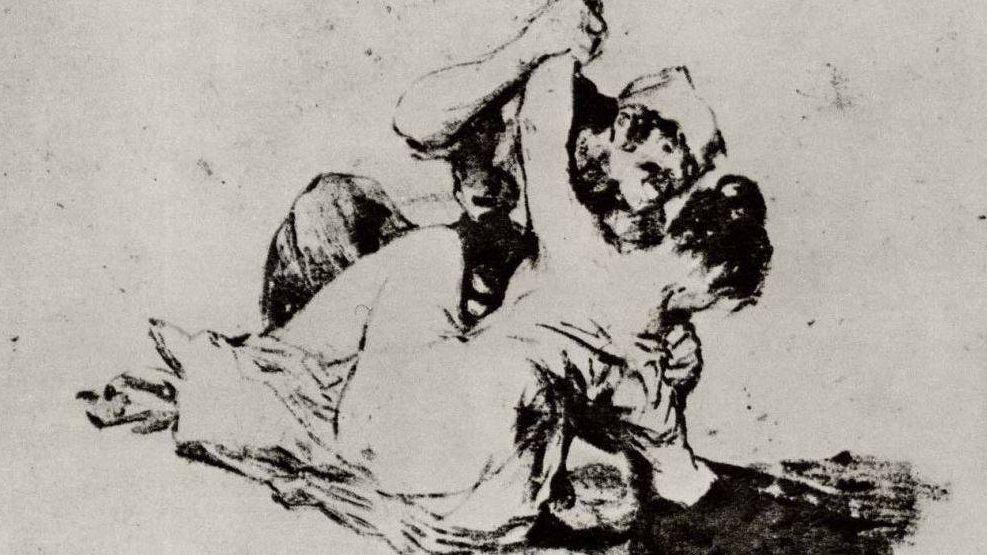 фрагмент. Франсиско де Гойя. Насилие. 1820