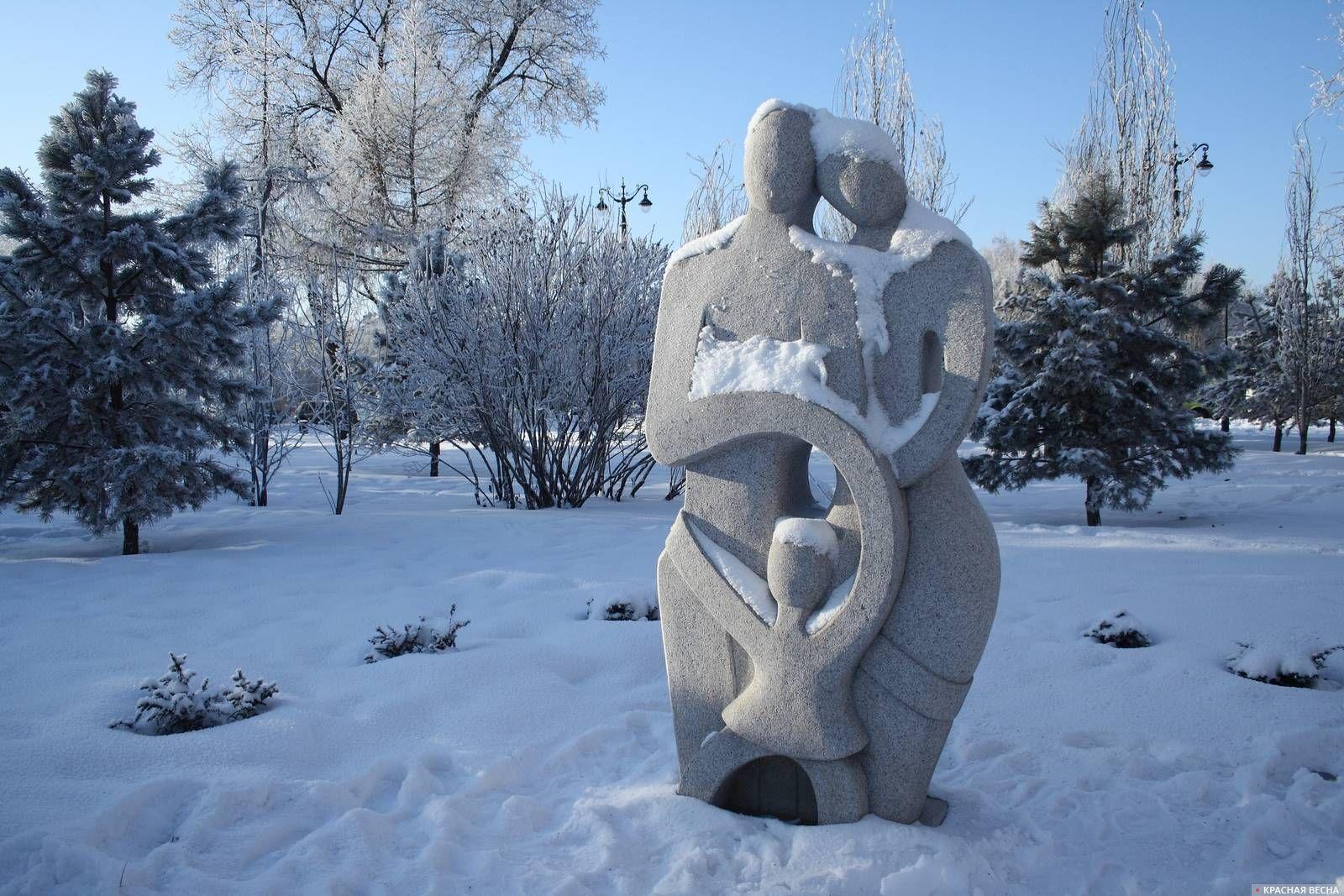 Композиция из камня Семья. Омск Анна Рыжкова © ИА Красная Весна