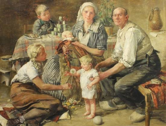 Ханс Шмитц-Виденбрюк. Семейное фото. XX век.
