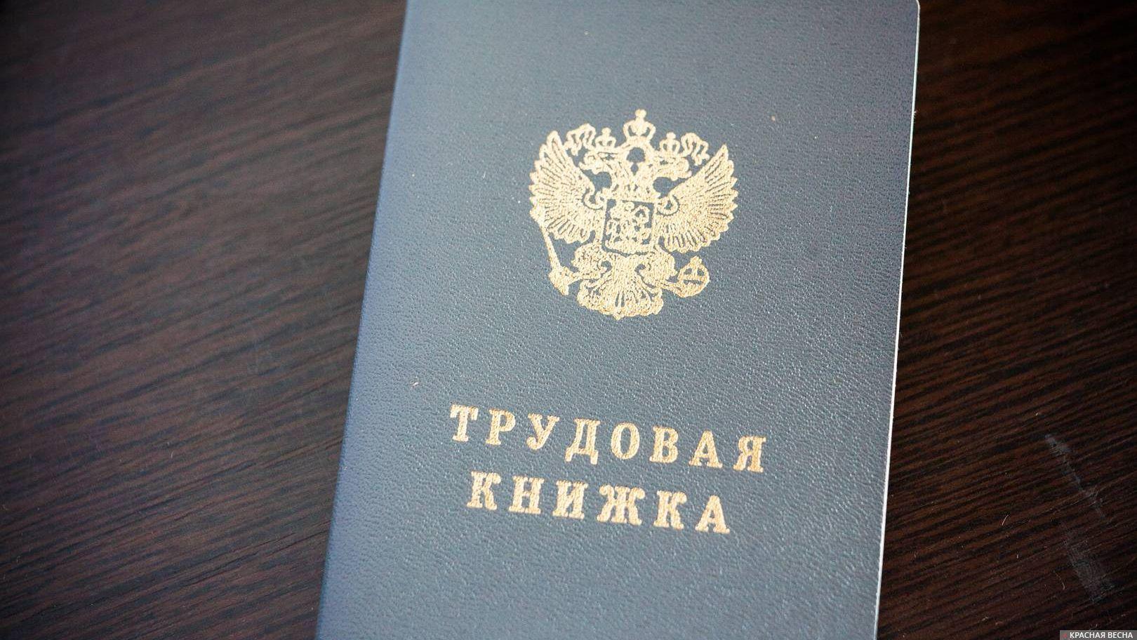 Трудовая книжка Владимир Чичилимов © ИА Красная Весна