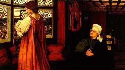 Стенхоуп Джон. Джульетта и ее няня. 1860. Фрагмент.