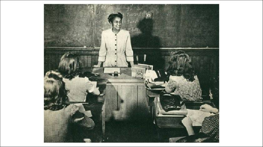 Rebecca M. Johnson, teacher in Springfield, Massachusetts, 1940s. Photo from Wise (1945).