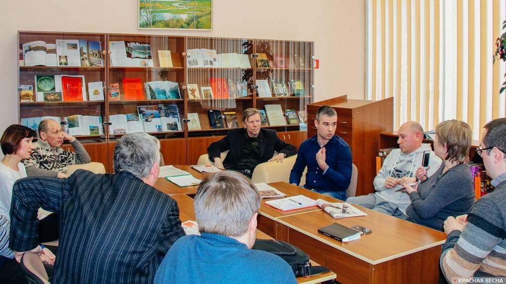 Дискуссия в библиотеке № 5 им. Н. Рубцова. Санкт-Петербург © ИА Красная Весна