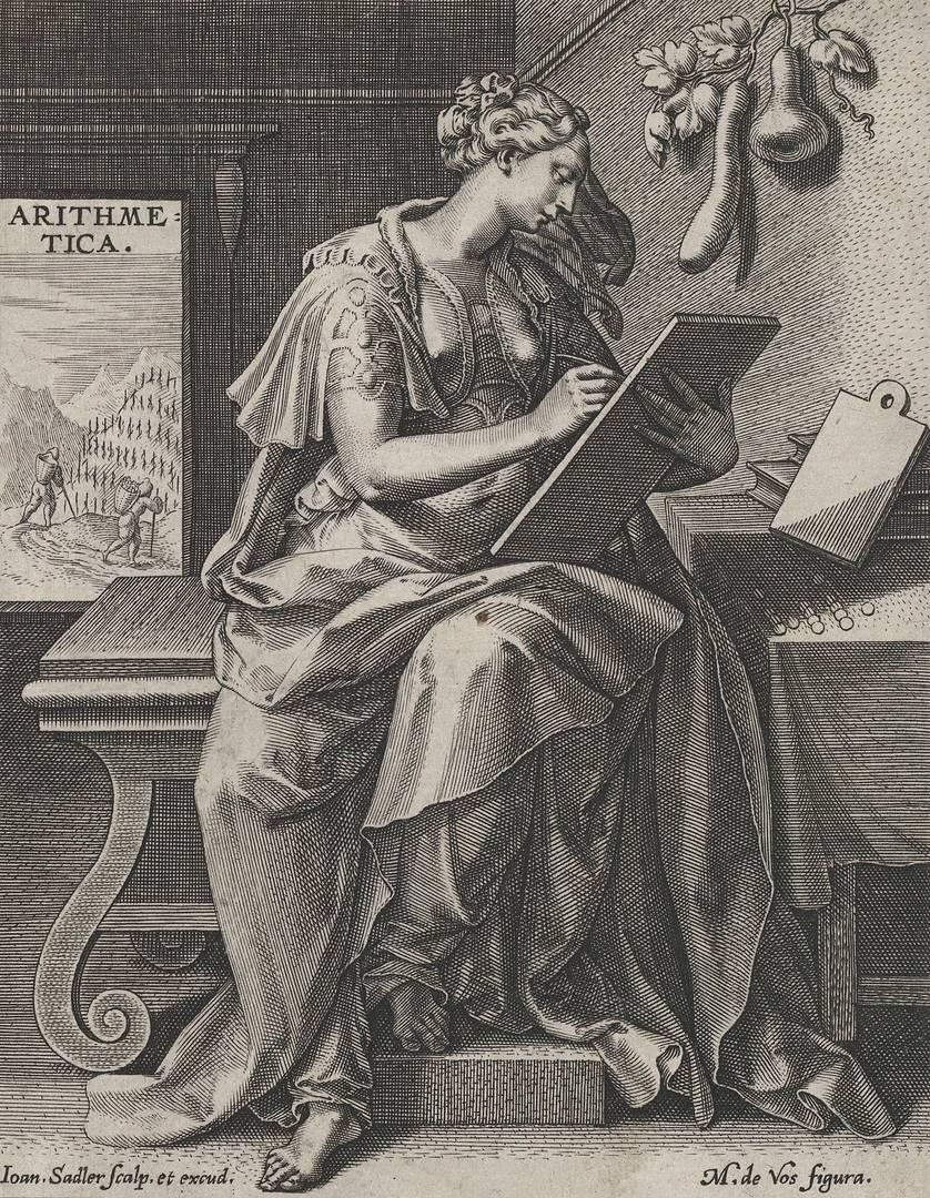 Рафаэль Саделер I после Мартин де Воса. Арифметика, из семи свободных искусств. Ок. 1570–1600