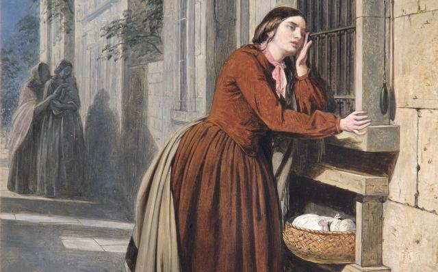 Генри Нельсон. Мать отдает своего ребенка. 1855