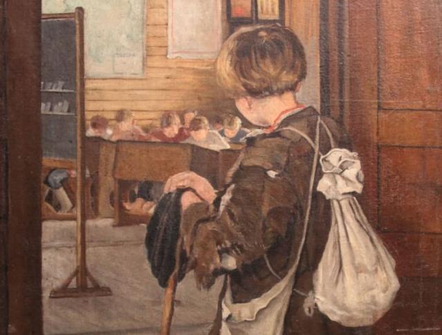 Неизвестный художник. В школу. конец 19в. (фрагмент)