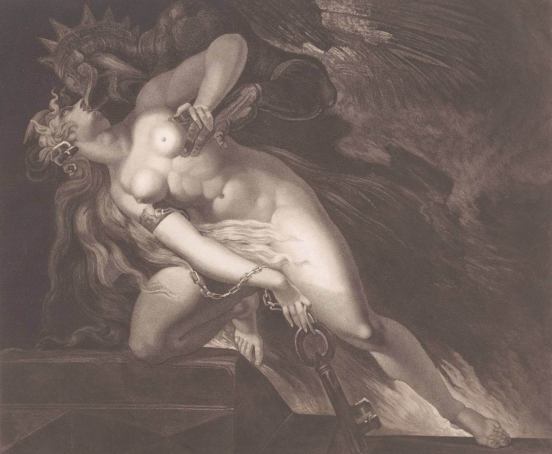 Генри Фюзели. Грех, преследуемый смертью. 1804