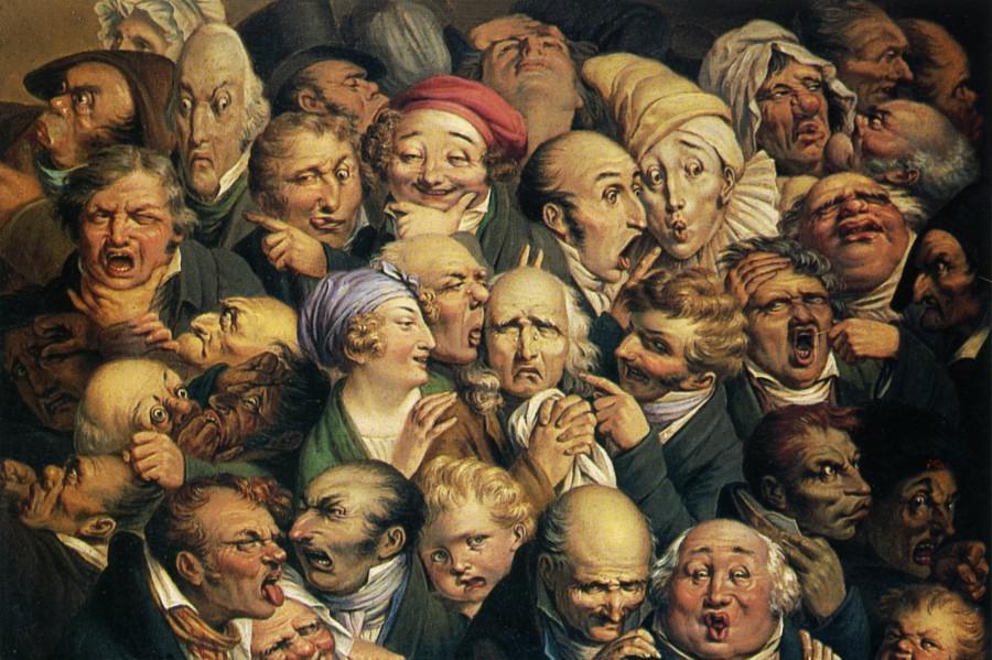 Оноре Домье, Тридцать пять выражений лиц.
