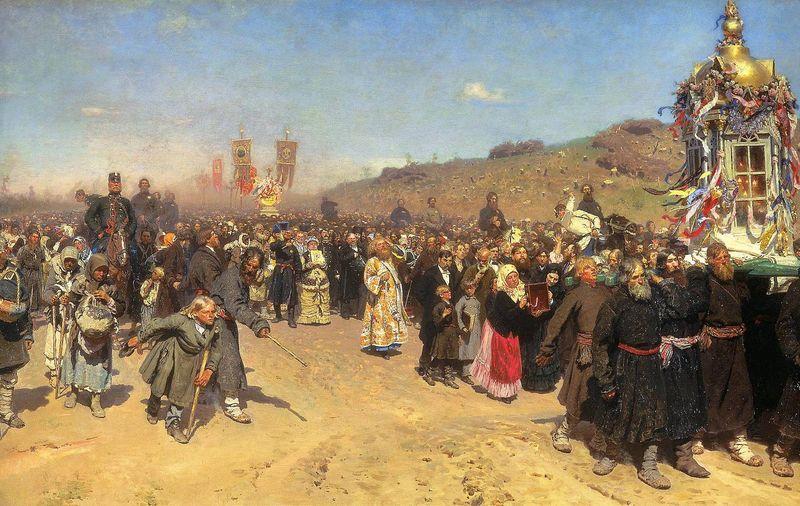 Илья Репин. Крестный ход в Курской губернии. 1880–1883