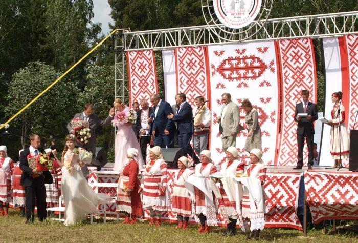 Праздник «Гербер», с 1992 года отмечается в Удмуртии как общереспубликанский праздник.(источник)