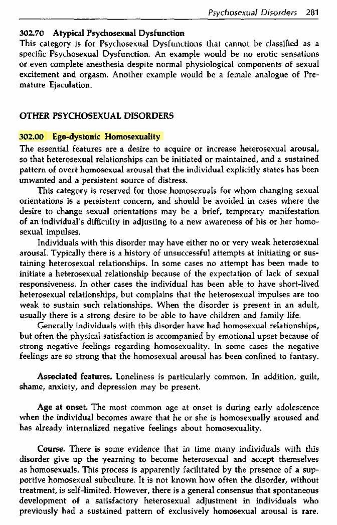 Гомосексуализ убрали из списка психических отклонений