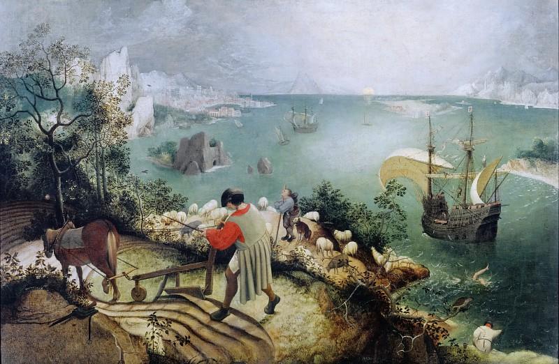 Питер Брейгель старший. Падение Икара. 1558 год