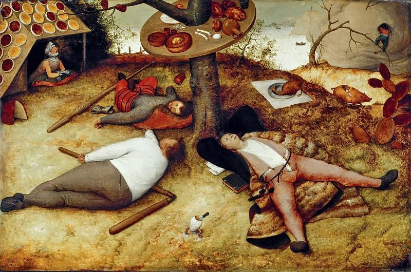 Питер Брейгель Старший. Страна лентяев. 1567 год.