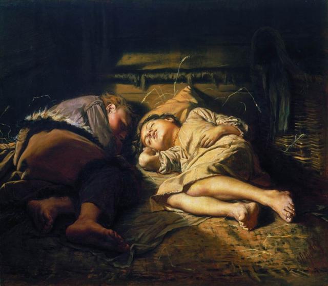 Спящие дети. 1870г.
