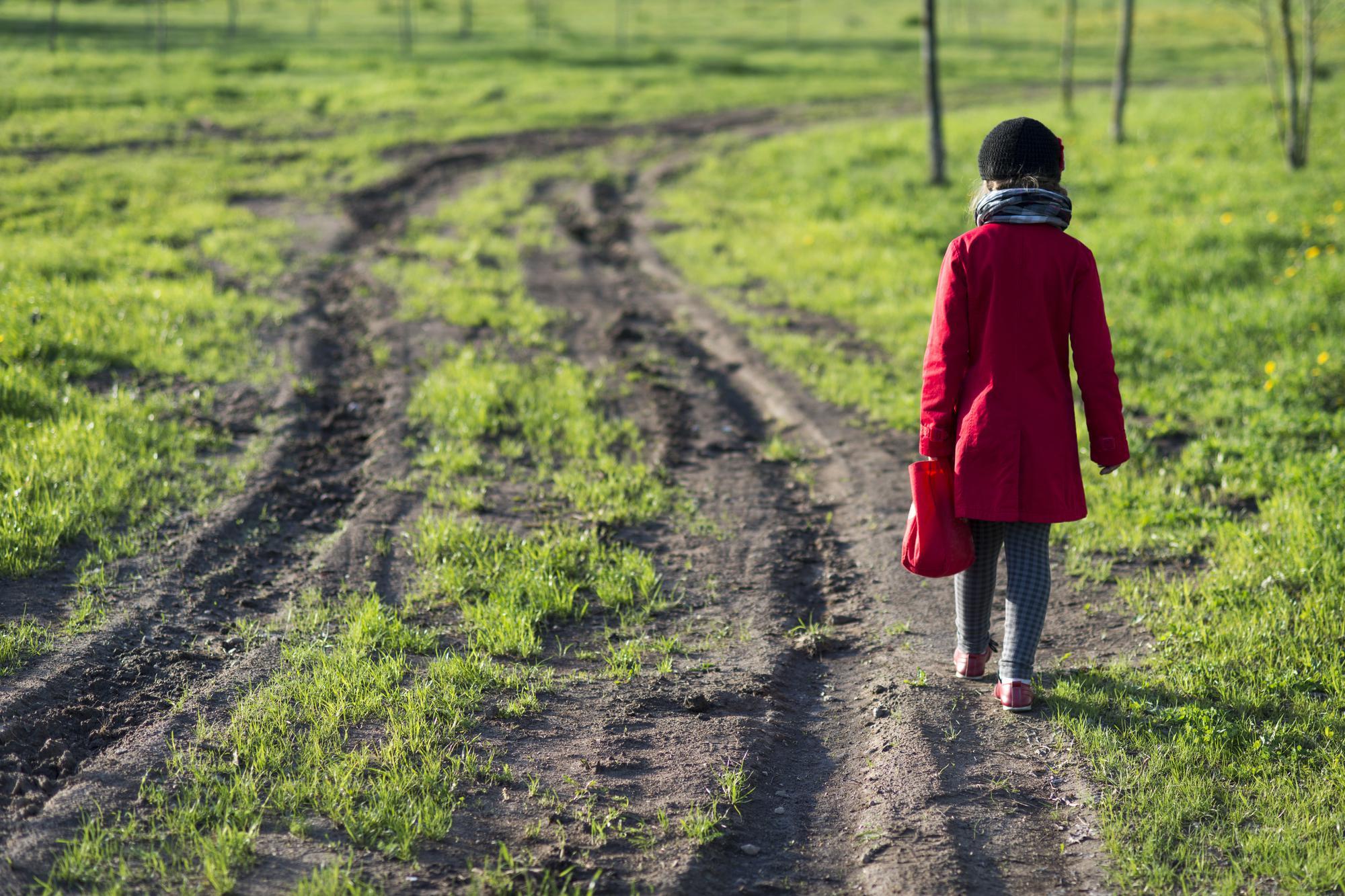 Ребенок идёт по проселочной дороге [(cc0)Yury Zap depositphotos.com]