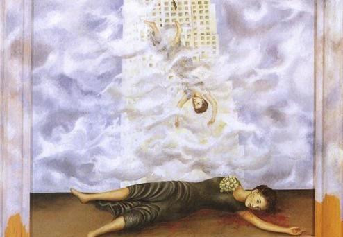 Фрида Кало. Самоубийство Дороти Хейл (фрагмент). 1938