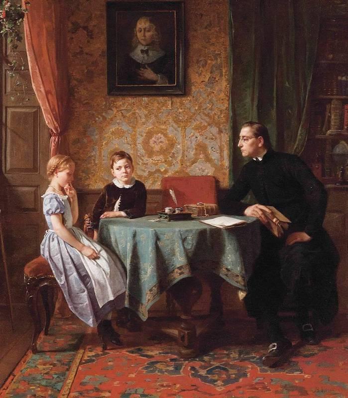 Сложный вопрос Изображение: Беньямин (Бенджамин) Вотье. 1861 год